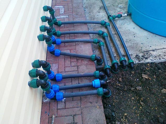 Летний водопровод на даче из полиэтиленовых труб